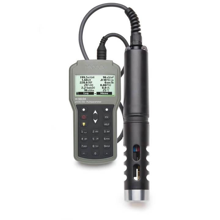 Medidor multiparamétrico de pH/ ORP/ CE/ TDS/ salinidad/ OD/ presión/ temperatura